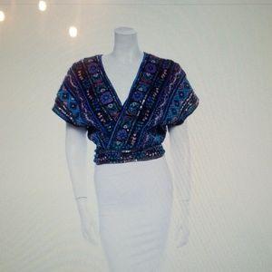 Calypso silk wrap top